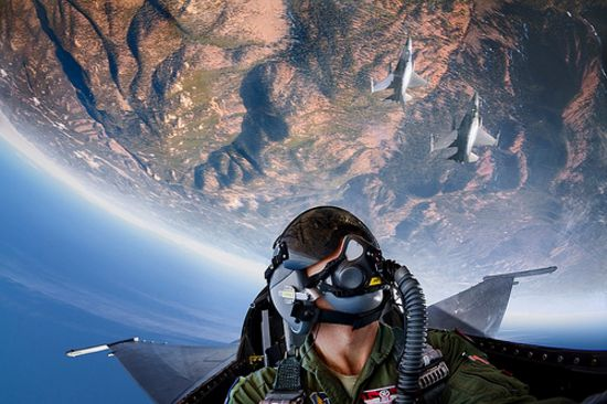 F-16 fighter pilots